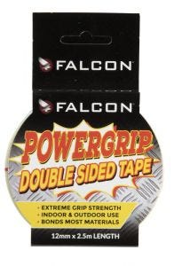 Falcon Powergrip Double Sided Tape 12mm