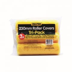Uni-Pro Roller Covers Tri-Pack 230mm 10mm Nap