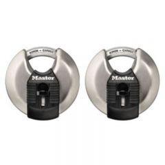 Master Lock Magnum Stainless Steel Disc Padlock 2 Pack 70mm