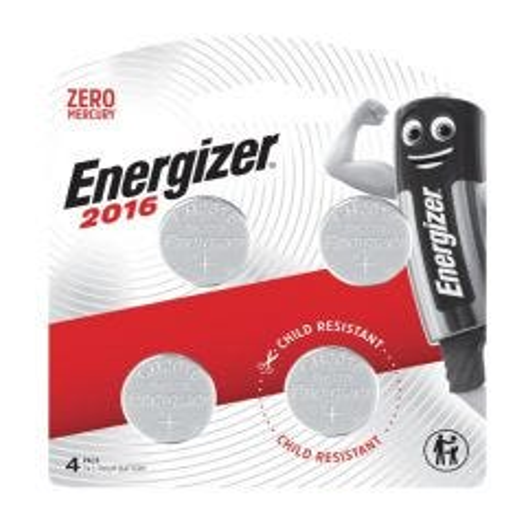 Energizer 2016 Lithium Coin Battery 3V 4 Pack