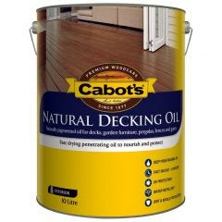 Cabot's Natural Decking Oil 10L