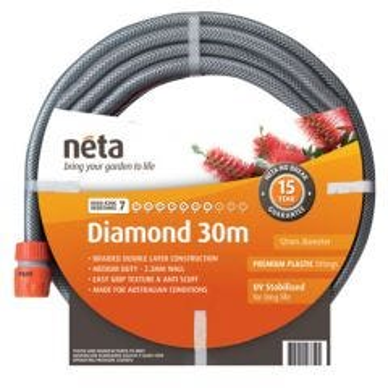 Neta Diamond 30m Fitted Hose (12mm)