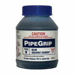Pipegrip Type N Blue Solvent Cement 250ml