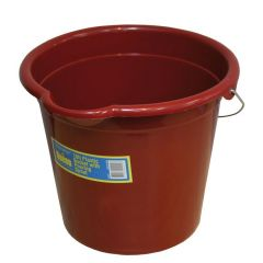 Queen Bucket Plastic with Spout and Metal Handle 10L