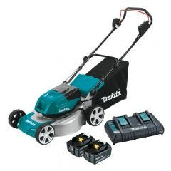 Makita 36V (18V x 2) 460mm Brushless Lawn Mower Kit DLM461PG2