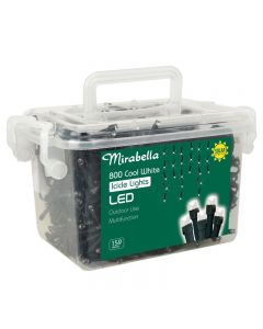 Mirabella Christmas Fairy Light Icicle LED Solar Cool White 800 Pack