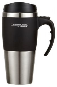 Thermos® THERMOcafe™ 450ml Double Wall Stainless Steel Travel Mug - Black
