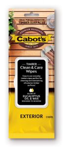Cabot's Timber Clean & Care Wipes