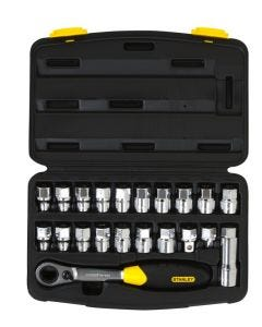 "Stanley 21 Piece 3/8"" & 1/2"" Drive Thru Drive Socket Set"