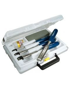 Stanley 6 Piece Chisel Set With Oil Stone