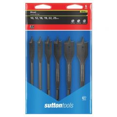 Sutton Tools 6Pce Wood Spade Bit Set