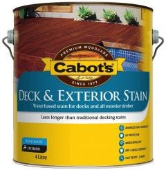 Cabot's Deck & Exterior Stain Water Based 4L Merbau
