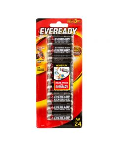 Eveready AA Super Heavy Duty Batteries 24 Pack