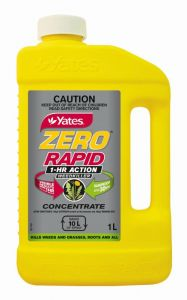Yates Zero Rapid 1 Hour Action Weedkiller Concentrate 1L