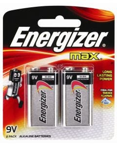 Energizer Max 9V Batteries 2 Pack