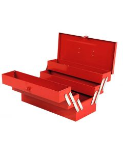 Geelong 467mm 5 Tray Powder Coated Cantilever Tool Box Red