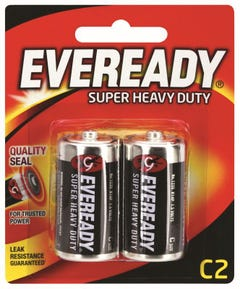 Eveready Super Heavy Duty Battery C 2 Pack