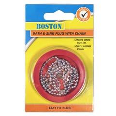 BOSTON Bath & Sink Plug with Chain