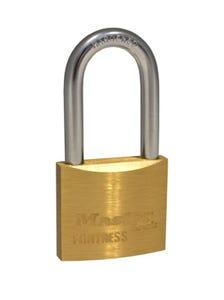 Master Lock Brass Fortress Economy Long Shackle Padlock 40mm
