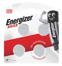 Energizer 2032 Lithium Coin Battery 3V 4 Pack