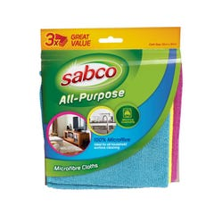 Sabco All Purpose Micro Fibre Cloths 3 Pack