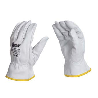 Rhino Topgrain Leather Gloves Large