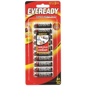 Eveready     AA  Battery Super Heavy Duty 10 pack