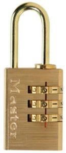 Master Lock Padlock Brass Combo 20mm