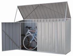 Absco Bike Shed Zincalume 2.26 x 0.78 x 1.31m