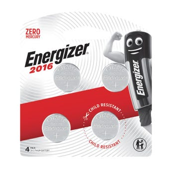Energizer 2016 Lithium Coin Battery 3V 4 Pack
