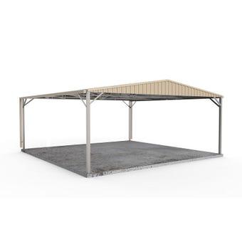 Absco Double Carport Gable N3 6.00 x 6.00 x 2.98m