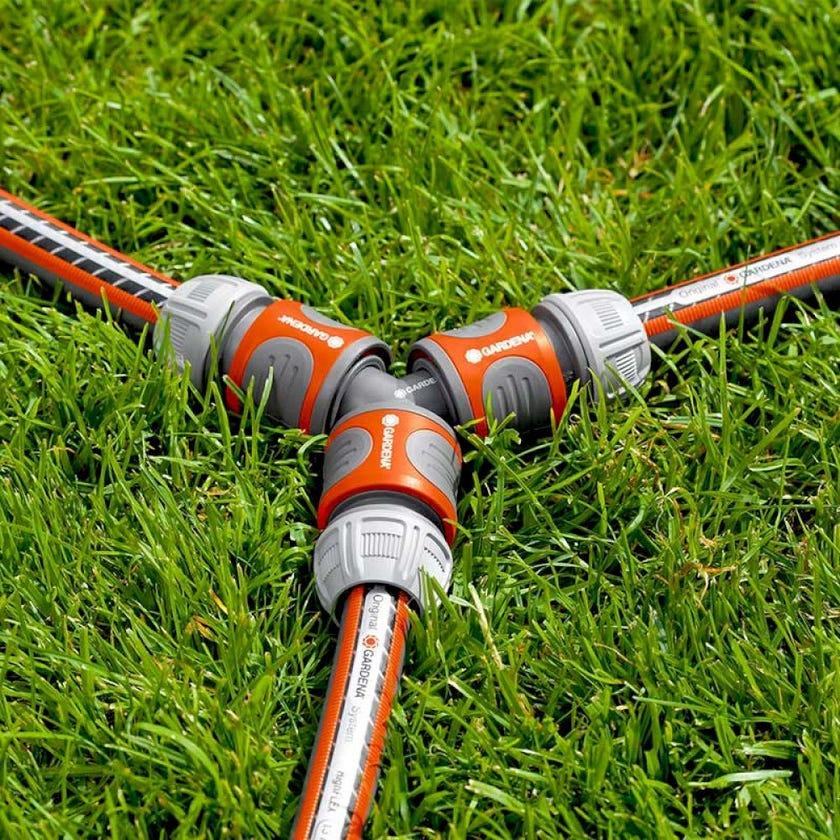 GARDENA 3 Way Hose Coupling 13mm