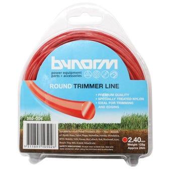 Bynorm Round Trimmer Line Red 2.4mm
