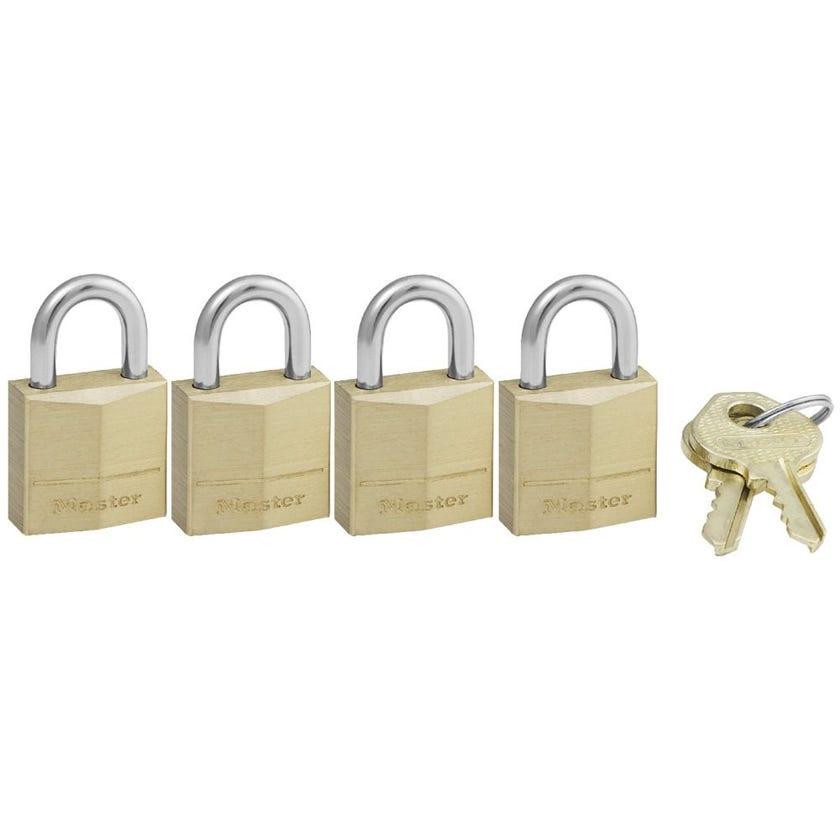 Master Lock Brass Padlock 20mm 4 Pack