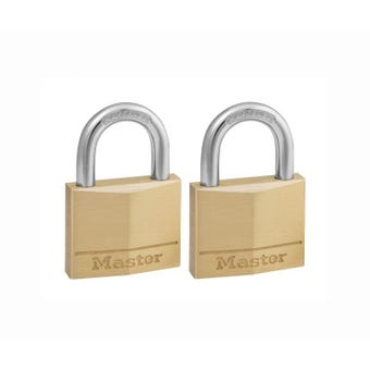Master Lock Padlocks 40mm 2 Pack