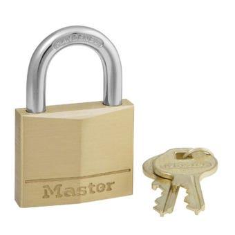 Master Lock Brass Padlock 40 x 22mm