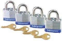 Master Lock Laminated Padlock 40mm 4 Pack
