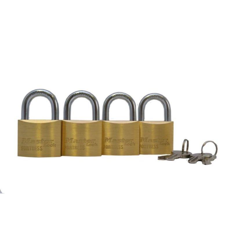 Master Lock Fortress Padlock 40mm 4 Pack