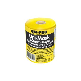 Uni-Pro Uni-Mask 550mm Plastic Pull Down Drop Sheet