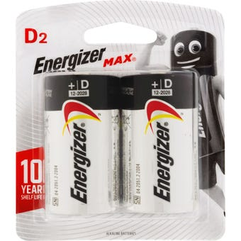 Energizer Max D Battery - 2 Pack