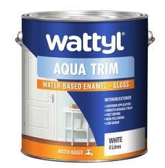 Wattyl Aquatrim Gloss White 4L