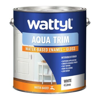 Wattyl Aquatrim Gloss White 4L