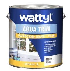 Wattyl Aquatrim Satin White 4L