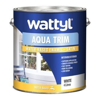 Wattyl Aquatrim Satin White 4L