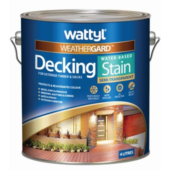 Weathergard Water Based Decking Stain New Snow Gum 4L