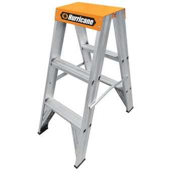Hurricane™ Dual Punch™ 0.9m Double Sided Ladder 150kg Industrial