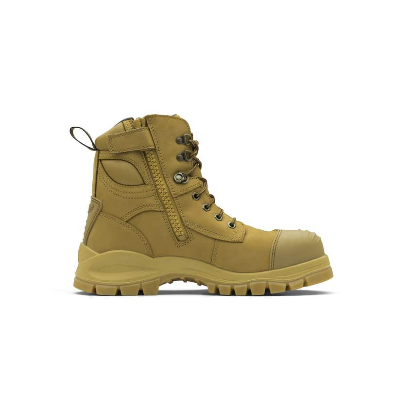 Blundstone 992 Nubuck Water Resistant Lace Up/Zip Ankle Safety Boot