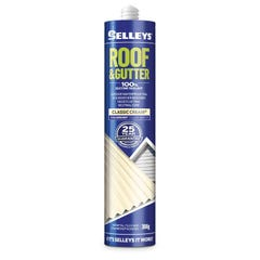 Selleys Roof & Gutter Silicone Sealant Classic Cream 300g