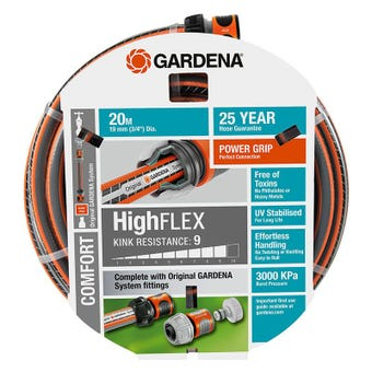 GARDENA HighFLEX Hose 19mm 20m Fitted