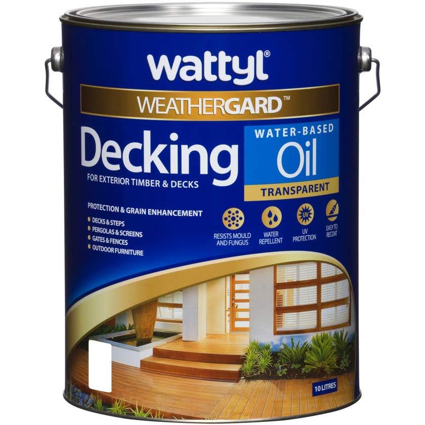 Weathergard Water Based Decking Oil Jarrah 10L